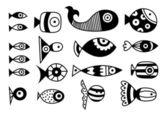 Fisk samling — Stockvektor