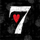 Vintage Number 7 — Stok Vektör