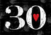 Vintage Number 30 — Stock Vector
