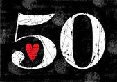 Vintage Number 50 — Stok Vektör