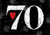 Vintage Number 70 — Stok Vektör