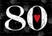 Vintage Number 80 — Stock Vector