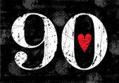 Vintage Number 90 — Stock Vector