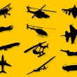 Royalty-Free Stock Vector Image: Set of images of flying vehicles