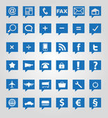 Set of images and icons — Stock Vector