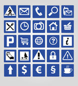 Set od 36 icons and signs — Stock Vector