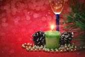 Weihnachtsdekoration auf abstrakten Hintergrund — Stockfoto