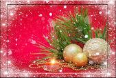 рождественские украшения на абстрактный фон — Стоковое фото