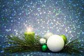 Decorazione di Natale sullo sfondo astratto — Foto Stock