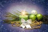 抽象背景上的圣诞装饰 — 图库照片