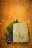 Christmas decoration on abstract background — Stock Photo