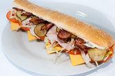 Sandwich isolated on white background — Stock Photo