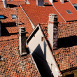 Tile roofs and chimneys - Stock Photo