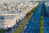 Paris, Champs Elysees (Champs-Élysées), view from Triumphal Arch — Stock Photo