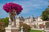 Luxembourg gardens ornamental statue, Paris — Stock Photo
