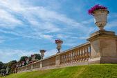 Luxembourg gardens ornamental flowers, Paris — Stock Photo