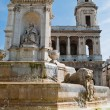 St. Sulpice Church and fountain, Paris — Stock Photo