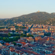 Royalty-Free Stock Photo: Turin, panoramic view on Basilica of Superga and hills