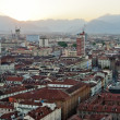 Royalty-Free Stock Photo: Turin, panoramic view on mountains at sunset
