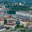 Royalty-Free Stock Photo: Turin, panoramic view on Piazza Vittorio and hills