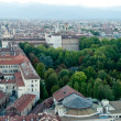 Turin, panoramic view on Royal Palace - Stock Photo