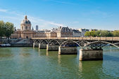 Paris, Pont des Arts on Seine river — Stock Photo