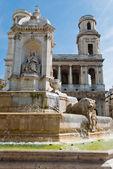 サン シュルピス教会、噴水、パリ — ストック写真