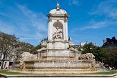 St. Sulpice square fountain, Paris — Stock Photo