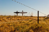 Abandoned planes in Mutonia, South Australia — Stock Photo