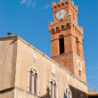 Square Pio II, Pienza, Tuscany, Italy - Stock Photo