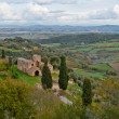 Tuscan landscape near Montepulciano, Tuscany - Stock Photo