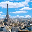Paris, panorama with Eiffel Tower — Stock Photo
