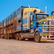 Road train in the Australian outback — Stock Photo