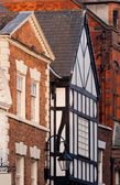 Chester, England, black and white building — Stock Photo