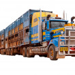 Stock Photo: Road train in the Australian outback