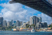 Sydney, bay view under the Harbour Bridge — Stock Photo