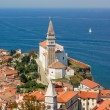 Piran, Slovenia, panorama — Stock Photo