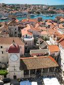 Trogir (trau), Croácia, panorama — Fotografia Stock