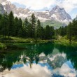 Mount Cervino and Blue Lake, Aosta Valley — Stock Photo #30019205