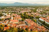 Ljubljana at sunset, Slovenia — ストック写真