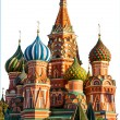 St Basil Cathedral, Moscow, isolated on white — Stock Photo