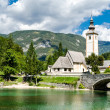 Church of St John the Baptist, Bohinj Lake, Slovenia — Stock Photo