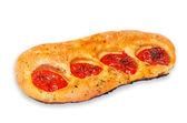 Italian focaccia with cherry tomatoes — Stock Photo
