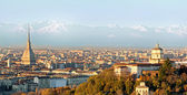 Turin (Torino), panorama with the Alps — Stock Photo
