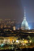 Турин (torino), Моле Антонеллиана ночью — Стоковое фото