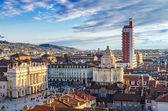 турин (torino), панорама с колокольни — Стоковое фото