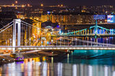 Budapest, Elisabeth and Liberty bridges — Stock Photo