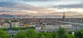 Turin (Torino), panorama at sunrise — Stock Photo
