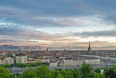 Turin (Torino), panorama at sunrise — Foto de Stock