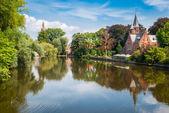ブルージュ、ベルギー、ミンネワーテル湖 — ストック写真